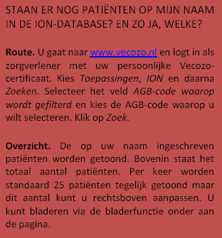 Uitleg over Patienten op naam in de ION-Database